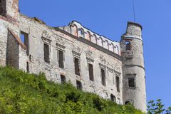 Renaissance castle, defense building, ruins, on a sunny day, Lublin Voivodeship, Janowiec ,Poland Stock Photos