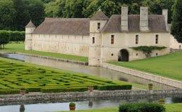Renaissance castle in the Domaine de Villarceaux Stock Images