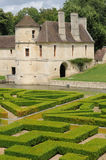 Renaissance castle in the Domaine de Villarceaux Stock Photo