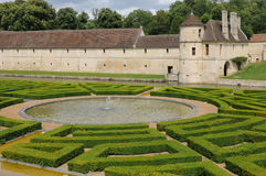 Renaissance castle in the Domaine de Villarceaux Royalty Free Stock Image