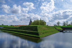 Renaissance castle and fortress of Kronborg, home of Shakespeare Stock Photography