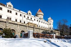 renaissance castle Konopiste near Benesov national cultural landmark, Central Bohemia region, Czech republic