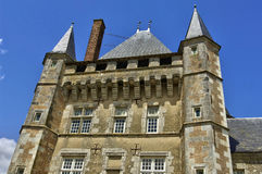 Renaissance castle of Talcy in Loir et Cher Stock Photos
