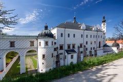 Renaissance castle in town Pardubice Stock Photos