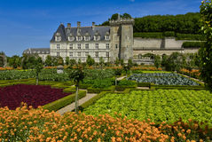 Renaissance castle of Villandry Royalty Free Stock Photography