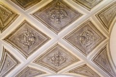 Renaissance ceiling in an old house Stock Photography
