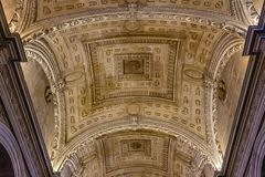 Renaissance ceiling of the Sacristy of the Sacred Chapel royalty free stock image