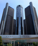 Renaissance Center, Detroit, street side Stock Photo