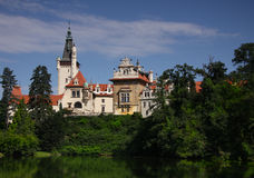 Pruhonice Chateau Landmark UNESCO Stock Images