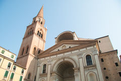 The renaissance church of Saint Andrea in Mantua Royalty Free Stock Image