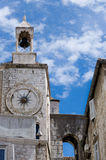 Ancient bell tower. Renaissance church tower in Split (Croatia Royalty Free Stock Photos