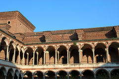 Renaissance colonnade of Milan University, Cloister of Baths - Lombardy stock images