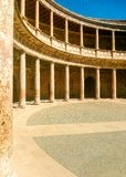 Renaissance construction of the Alhambra in Granada, Andalusia royalty free stock image