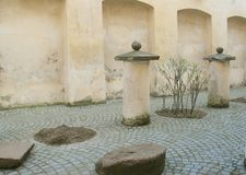 Renaissance courtyard Royalty Free Stock Photos