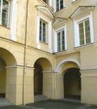 Renaissance courtyard. Of Vilnius university Royalty Free Stock Photo