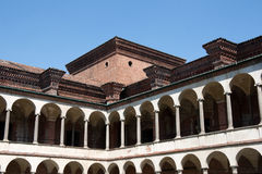 Renaissance courtyard of Milan University, Lombard royalty free stock photos