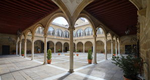 Renaissance Courtyard of Santiago Hospital Royalty Free Stock Photos