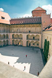 Renaissance Courtyard of Wawel Castle in Krakow Stock Images