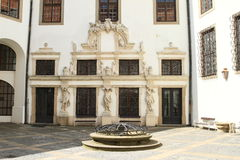 Renaissance courtyard with well Royalty Free Stock Image
