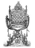 Renaissance decorated chair donated to Rudolf II from Augsburg stock illustration