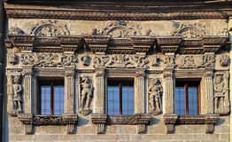 Renaissance decoration. Of The Knight's House from the 1st half of the 16th century. Litomysl, Czech republic Royalty Free Stock Photos