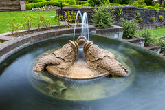 Renaissance Dolphins Trio Sculpture Water Fountain Royalty Free Stock Photography