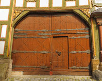 Renaissance door in Alsfeld, Germany Stock Photo