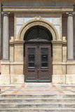Renaissance door at St. Stephen Basilica stock photography