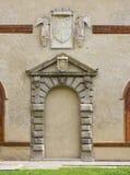 Renaissance Door Surround. An ancient Renaissance door surround now closed up in Milan, Italy Stock Photography