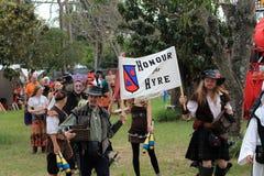 Renaissance Eerlijke parade Royalty-vrije Stock Foto's