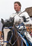 Renaissance Event Jouster. A jouster at the jousting event welcomes visitors to the Arizona Renaissance Festival Stock Images