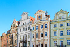 Renaissance facades in Prague city center Stock Image