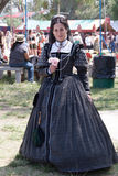 Renaissance Fair maiden Stock Image