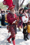 Renaissance Fair parade Stock Images
