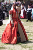 Renaissance fair patron stock images
