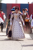 Renaissance Fair queen Royalty Free Stock Photo
