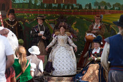 Renaissance Fair Queen's court Royalty Free Stock Photos