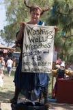 Renaissance Fair wench. Renaissance Pleasure Faire, Irwindale, CA April 7 – May 20, 2012. Southern California's largest Renaissance Faire features the Queen Royalty Free Stock Images