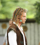 Renaissance Fair young man in costume Stock Image