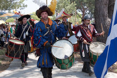 Renaissance Faire drummers Royalty Free Stock Photography