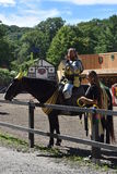 The 2016 Renaissance Faire in New York State. The Joust show at the 2016 Renaissance Faire in Tuxedo Park, New York State. The New York Renaissance Faire was Stock Photography