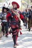 Renaissance Faire procession Stock Image
