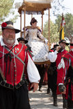 Renaissance Faire queen's procession Stock Image