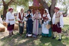 Renaissance Faire-Sänger Lizenzfreies Stockfoto