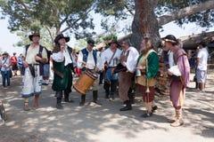 Renaissance Faire singers Stock Images