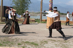 Renaissance Faire sword duel Royalty Free Stock Image