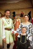 Renaissance-Familie Stockfotos