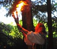 Renaissance fayre juggler Royalty Free Stock Image