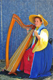 Renaissance fayre musician Royalty Free Stock Photo