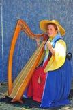 Renaissance fayre musician Royalty Free Stock Photo